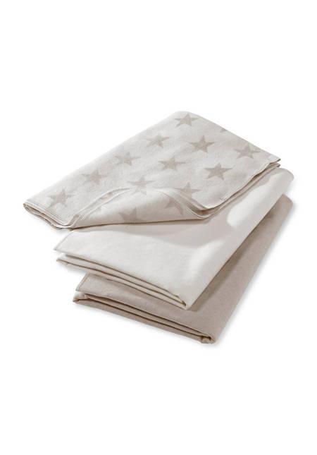 Molton Tuch im 3er-Pack aus reiner Bio-Baumwolle