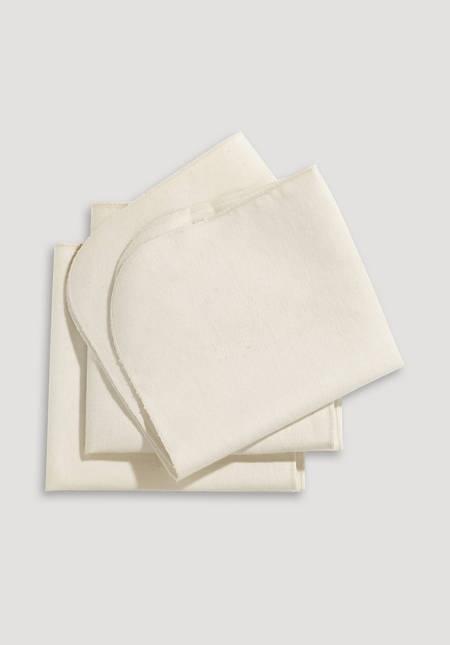 Molton insert in a 3-pack made of pure organic cotton