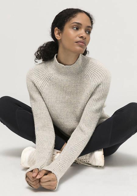 Mongolenmerino-Pullover aus reiner Schurwolle