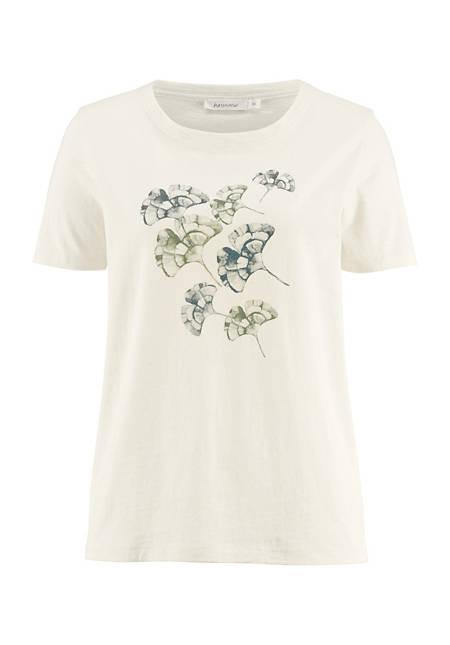 Motif shirt made of pure organic cotton