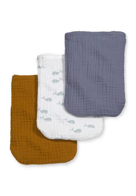 Mousselin-Waschhandschuhe aus reiner Bio-Baumwolle