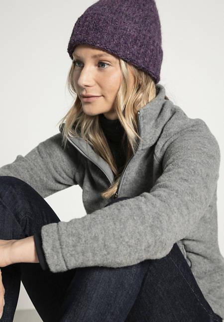 Mütze aus Alpaka mit Bio-Baumwolle