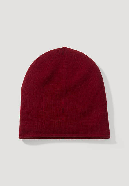 Mütze aus Schurwolle mit Kaschmir