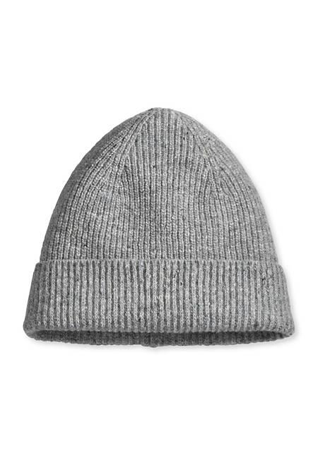 Mütze aus Schurwolle mit Kaschmir und Seide