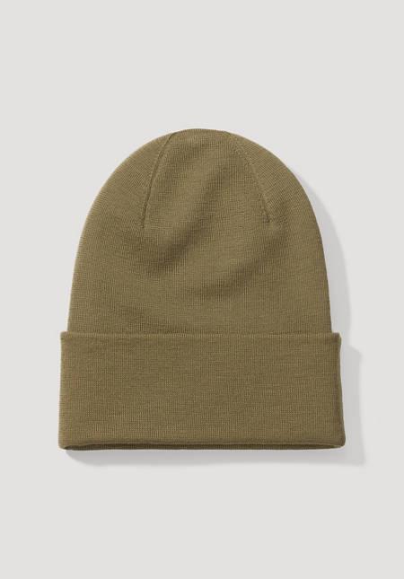 Mütze pflanzengefärbt aus reiner Merinowolle
