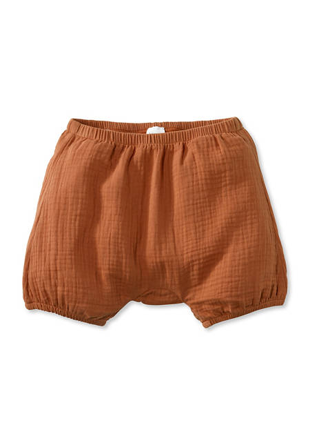 Muslin shorts made from pure organic cotton