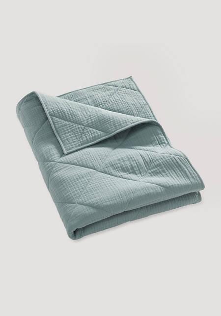 Musselin Decke aus Bio-Baumwolle mit Wollfüllung