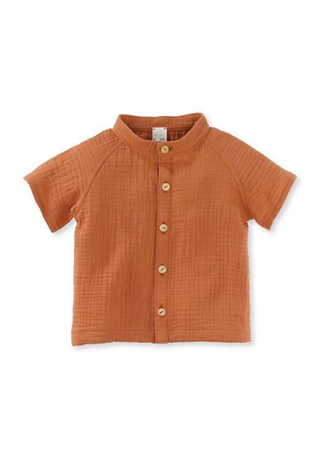 Musselin-Overshirt aus reiner Bio-Baumwolle