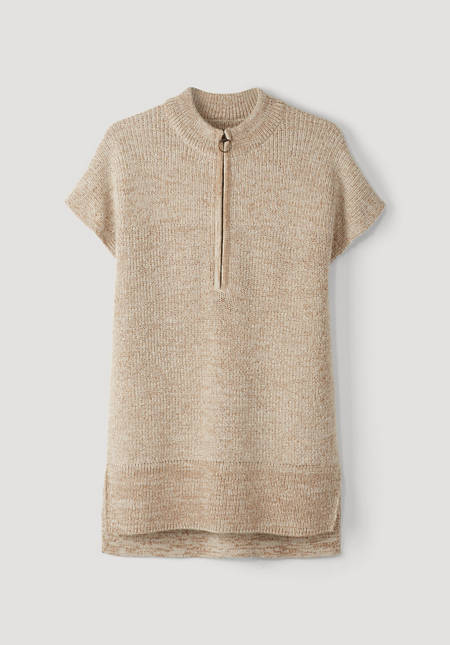 Natural dye sweater made of alpaca with organic cotton