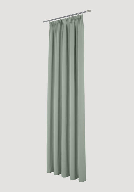 Neveres curtain with pleated tape made of pure organic cotton