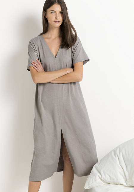 Nightdress made of organic cotton with linen