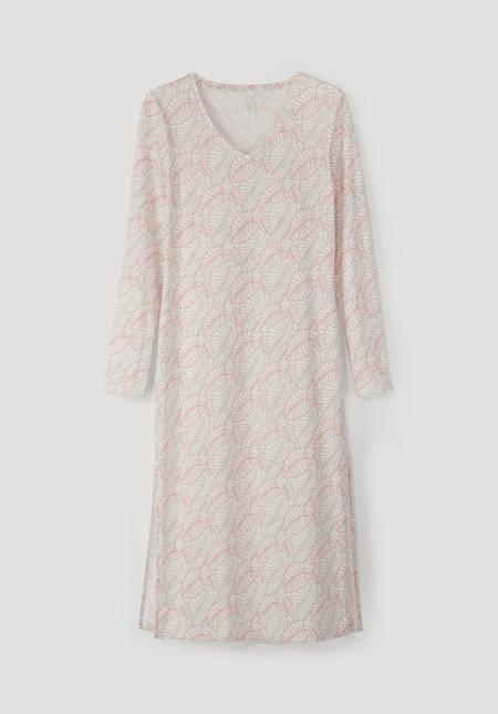 Nightdress made of organic cotton with silk