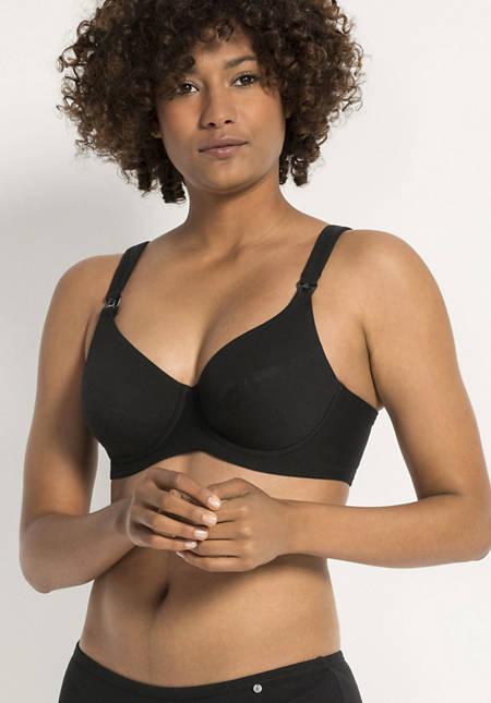 Non-iron nursing bra made of organic cotton