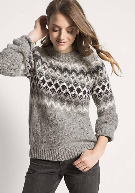 Norweger Pullover aus Schurwolle mit Alpaka