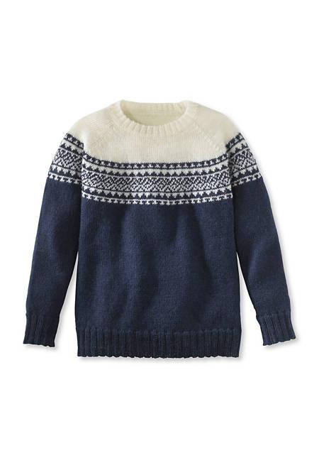 Norweger-Pullover aus reiner Merinowolle
