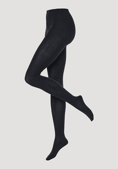 Opaque tights made of organic cotton