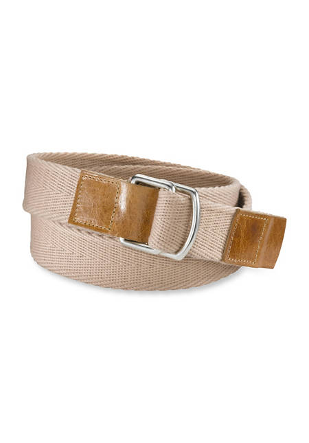 Organic cotton belt with leather
