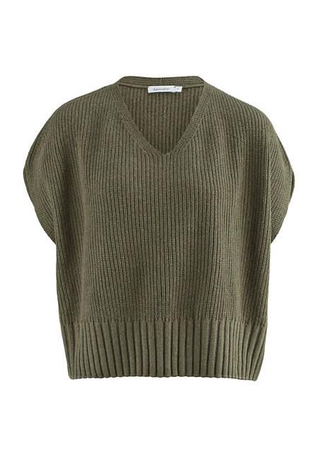 Organic cotton sweater with silk