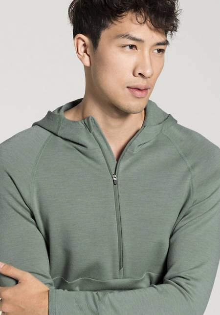 Organic merino wool hoodie