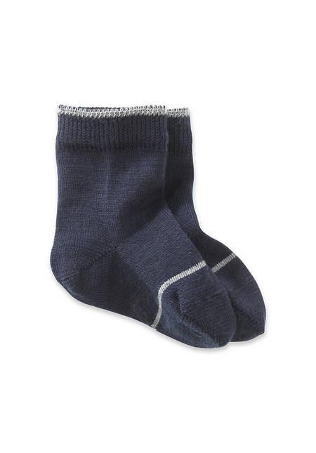 Organic merino wool sock with organic cotton
