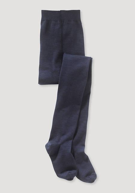 Organic merino wool tights with organic cotton