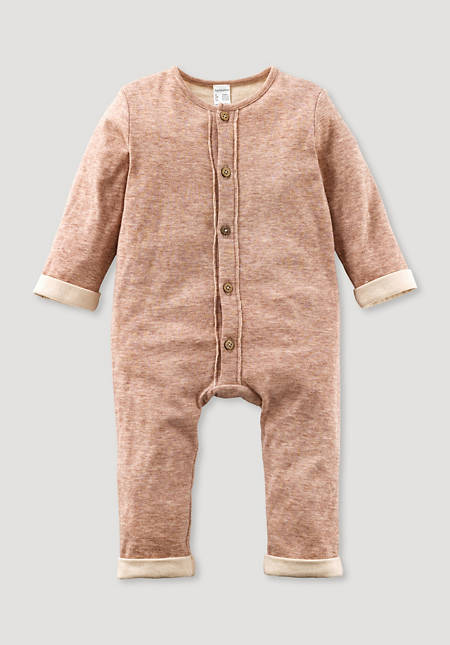 Overall made of organic cotton with merino wool