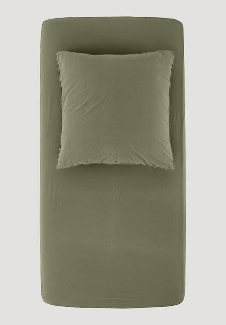 Percale fitted sheets made from pure organic cotton