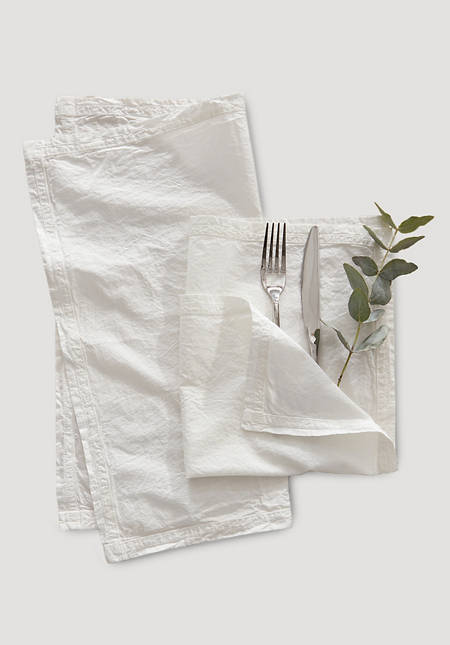 Percale napkins made of pure organic cotton in a set of 2