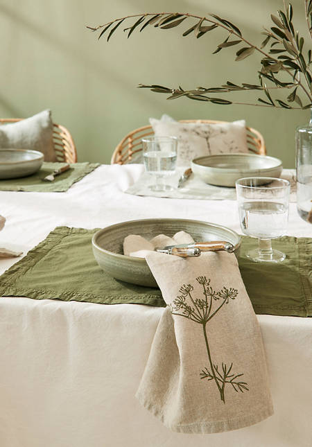 Percale placemat made of pure organic cotton in a set of 2
