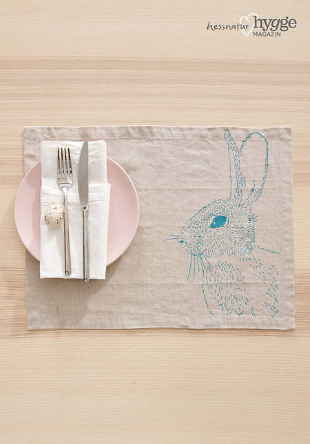 Placemat Jänis made of pure linen