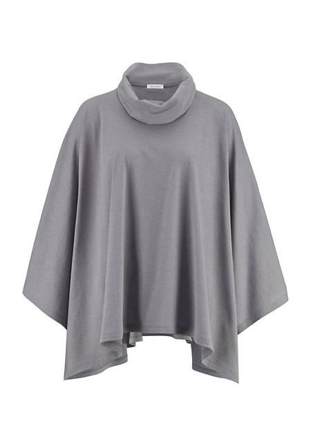 Poncho-Shirt aus Bio-Baumwolle mit Schurwolle