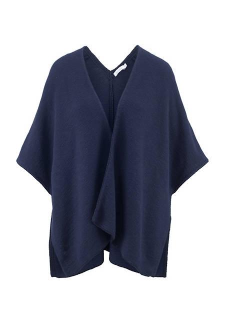 Poncho cardigan made of pure organic cotton