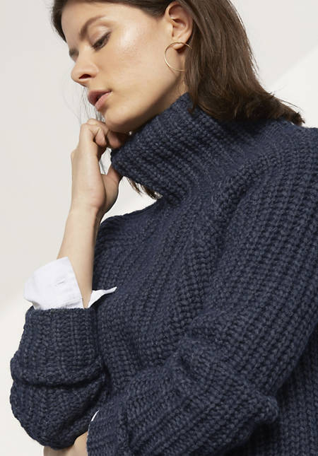 Pullover aus Alpaka mit Bio-Baumwolle
