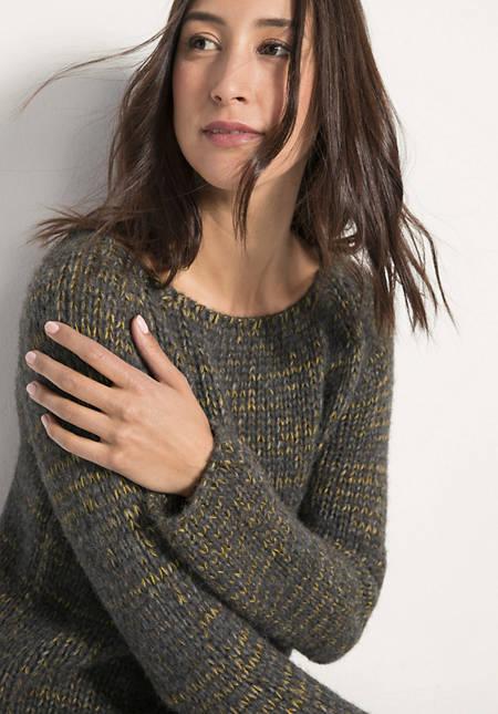 Pullover aus Apaka mit Bio-Baumwolle, Seide und Mohair