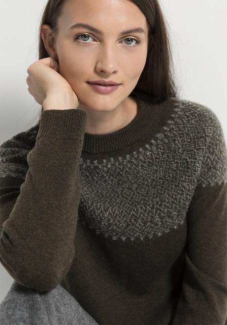 Pullover aus Lambswool mit Alpaka
