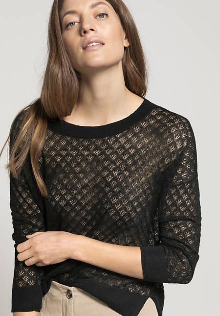 Pullover aus Leinen mit Seide