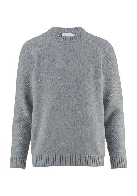 Pullover aus Schurwolle mit Baumwolle