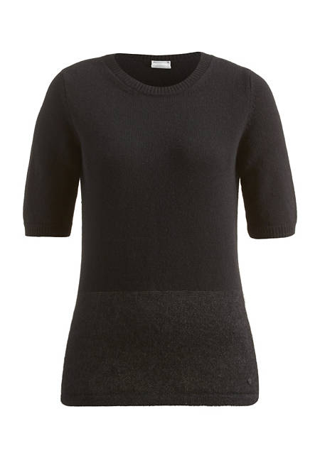 Pullover aus Schurwolle mit Mohair und Seide