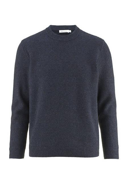 Pullover aus Schurwolle mit Yakwolle und Baumwolle