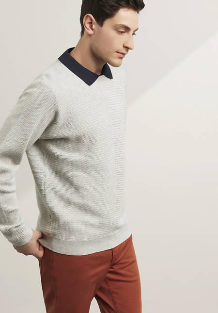 Pullover aus reiner Bio-Baumwolle