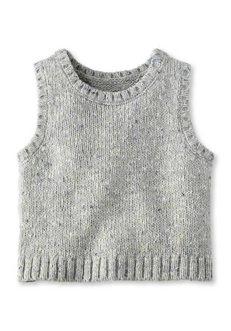 Pullunder aus Schurwolle und Baumwolle