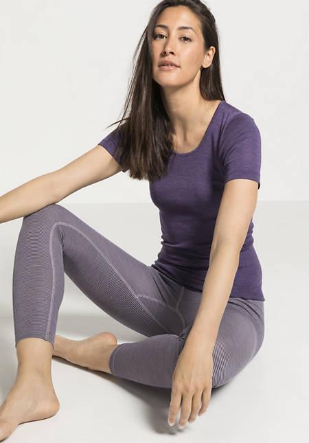 PureSTRIPES leggings made of organic merino wool and silk