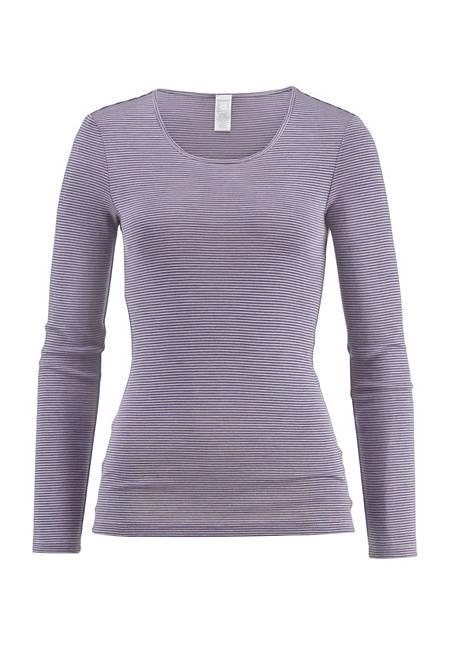 PureSTRIPES long-sleeved shirt made of organic merino wool and silk