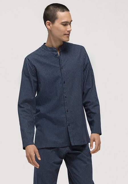 Pyjama-Oberteil aus reiner Bio-Baumwolle