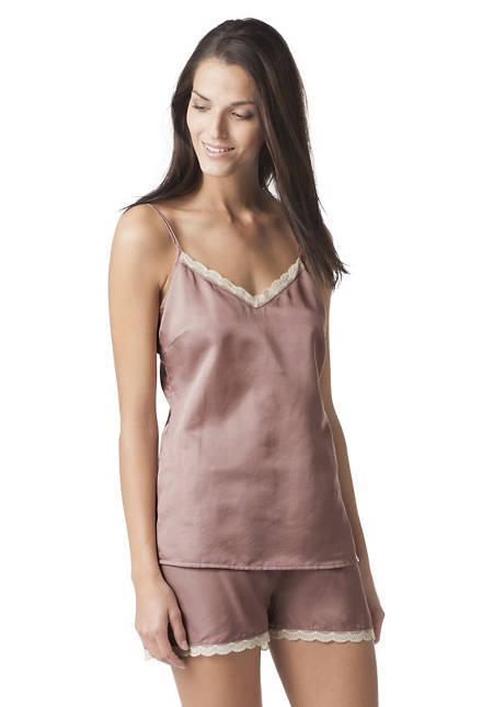 Pyjama-Shorty aus Bio-Baumwolle mit Seide und Hanf
