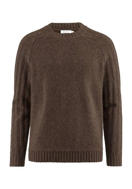 Raglan-Pullover aus Merinowolle, Alpaka und Hanf