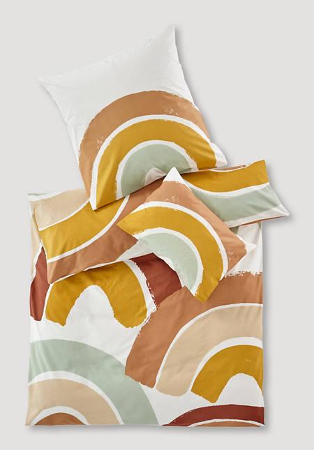 Renforcé-Bettwäsche Regenbogen aus reiner Bio-Baumwolle