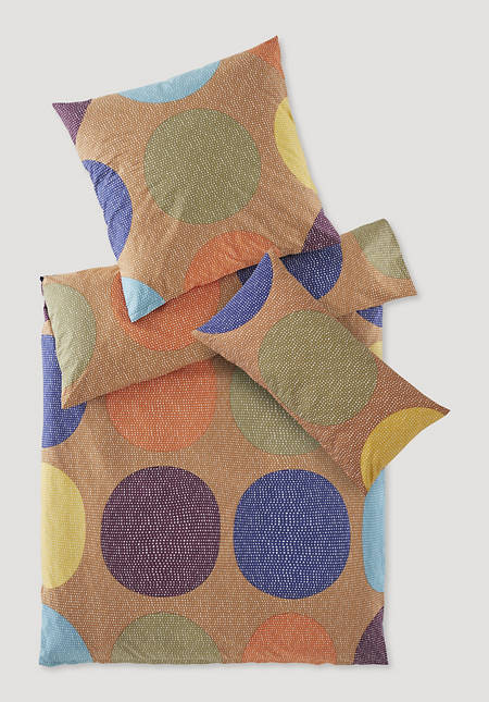 Renforcé-Bettwäsche Rondo im Set aus reiner Bio-Baumwolle