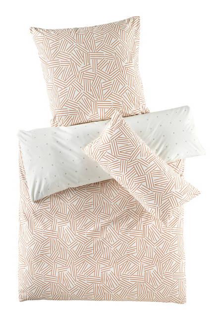 Renforcé-Wendebettwäsche Kanagawa aus reiner Bio-Baumwolle