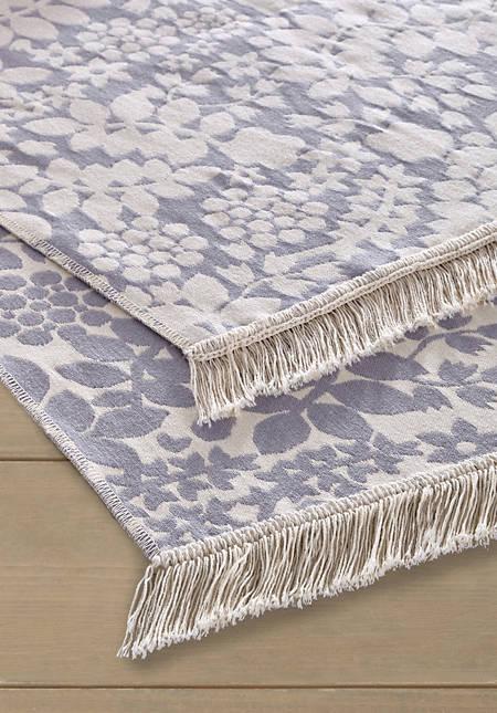 Reversible carpet Follini made of pure organic cotton